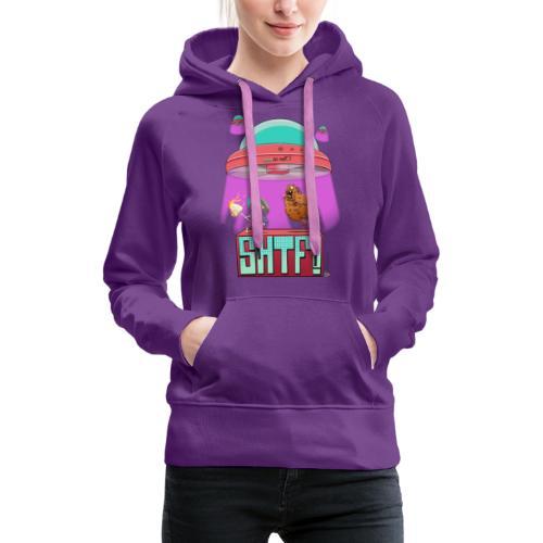 SHTF Battle - Felpa con cappuccio premium da donna