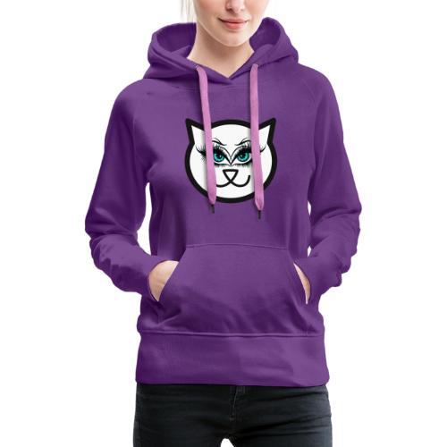 Hipster Cat Girl by T-shirt chic et choc - Sweat-shirt à capuche Premium pour femmes
