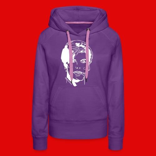 double face T-shirts - Sweat-shirt à capuche Premium pour femmes