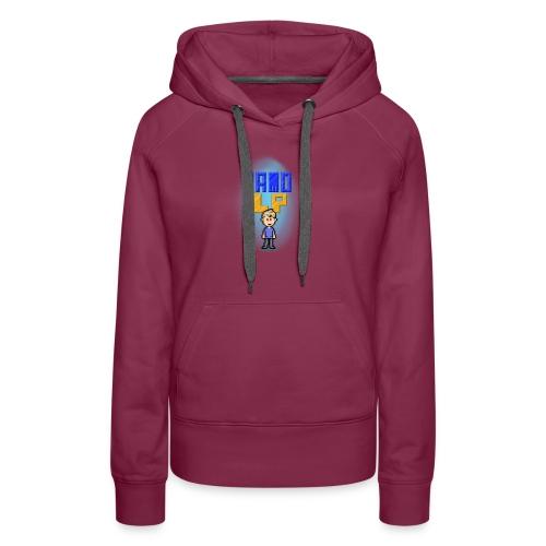 Pixel Jamo - Dame Premium hættetrøje