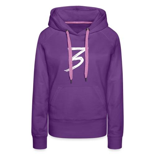3 Logo - Felpa con cappuccio premium da donna