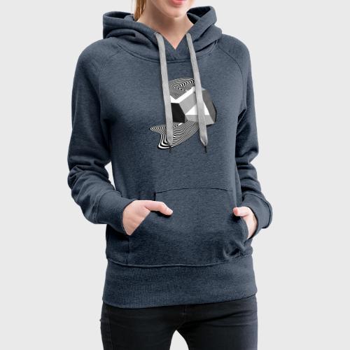 Sharp Curves - Sweat-shirt à capuche Premium pour femmes