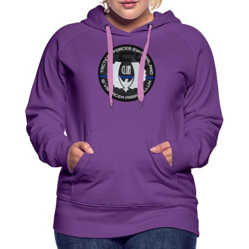 TFS Badge gris - Sweat-shirt à capuche Premium pour femmes