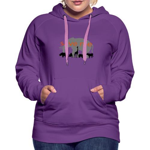 Animaux - Sweat-shirt à capuche Premium pour femmes