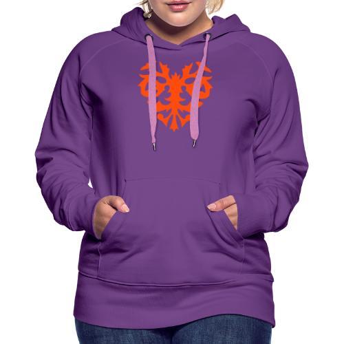 Cool heart pattern design - Vrouwen Premium hoodie