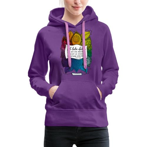 Ich liebe dich - Rainbow Version - Frauen Premium Hoodie
