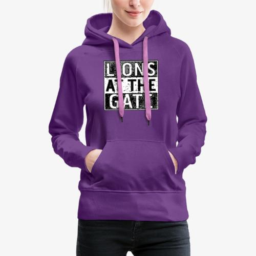 LIONS AT THE GATE BAND LOGO - Vrouwen Premium hoodie