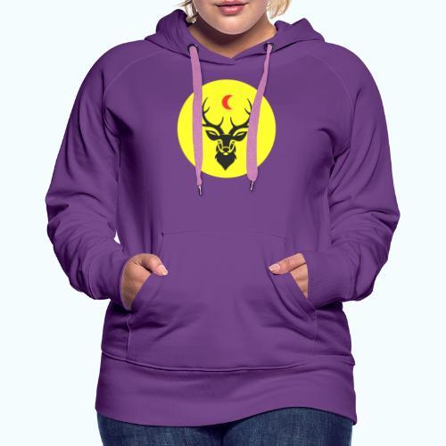 Hipster deer - Women's Premium Hoodie
