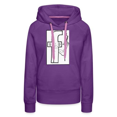Monsieur Fessbouke - Sweat-shirt à capuche Premium pour femmes