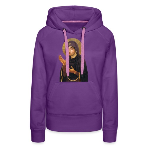 Virgin Mary Icon - Advocata Nostra - Women's Premium Hoodie