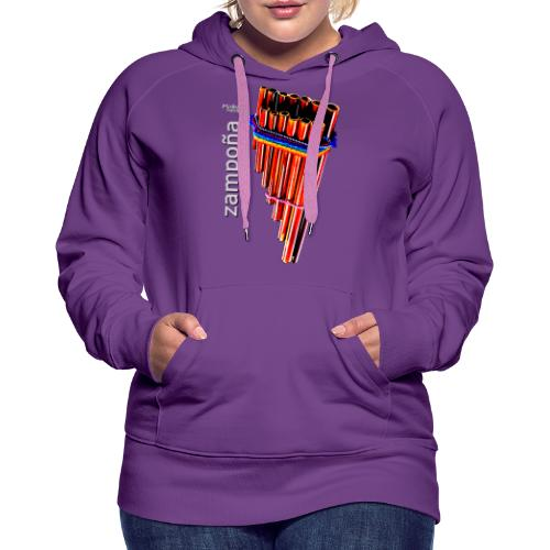 Zampoña - Sudadera con capucha premium para mujer