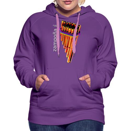 Zampoña clara - Sweat-shirt à capuche Premium pour femmes