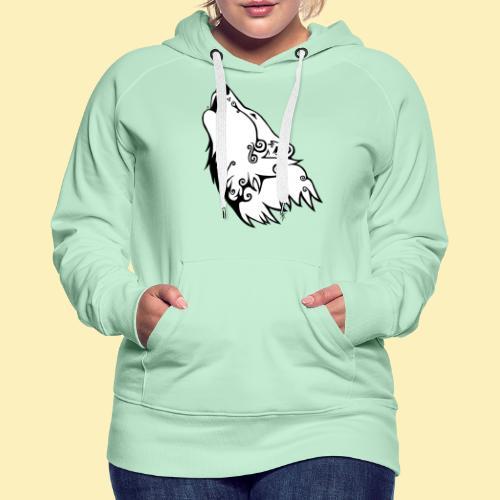 Le Loup de Neved (version blanche) - Sweat-shirt à capuche Premium pour femmes