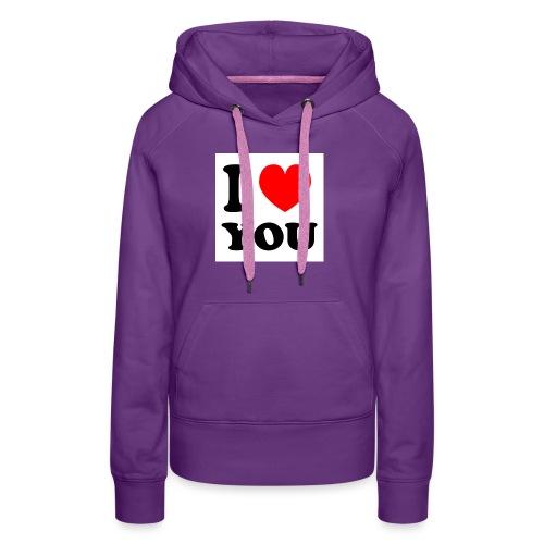 Sweater met i love you - Vrouwen Premium hoodie