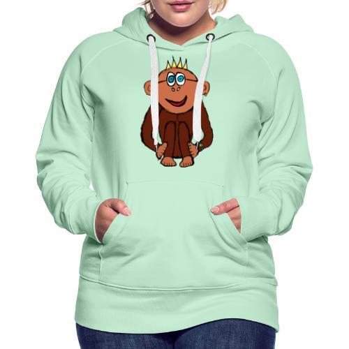 Ali le singe - Sweat-shirt à capuche Premium pour femmes