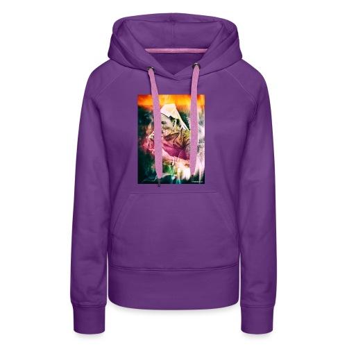 fumeuse bretonne - Sweat-shirt à capuche Premium pour femmes