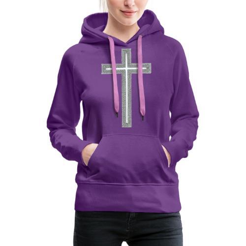 Croix - Sweat-shirt à capuche Premium pour femmes