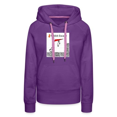 Rabbit Escape Hang-glider T-shirt - Women's Premium Hoodie
