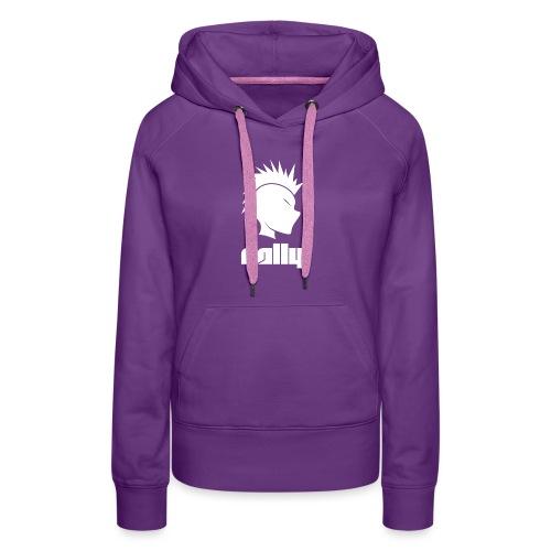 Cally Mohawk & Text Logo - Women's Premium Hoodie