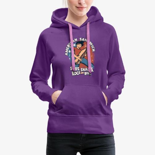 American Sandwich Rocker auf Farbe - Frauen Premium Hoodie