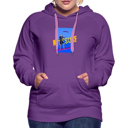 KITESURF FEMME - Sweat-shirt à capuche Premium pour femmes