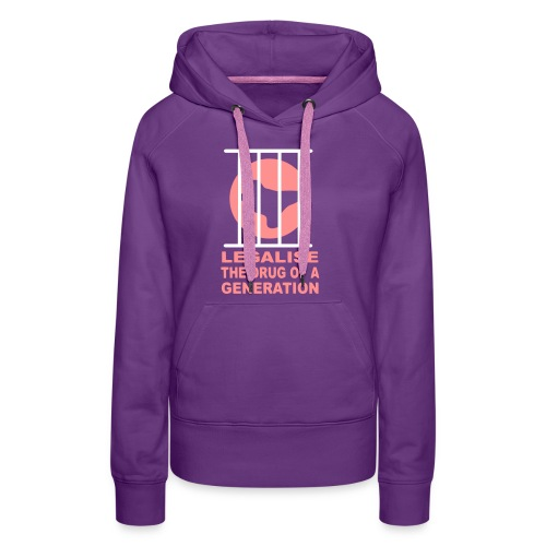 Legalise Ecstasy T-shirt design - Women's Premium Hoodie