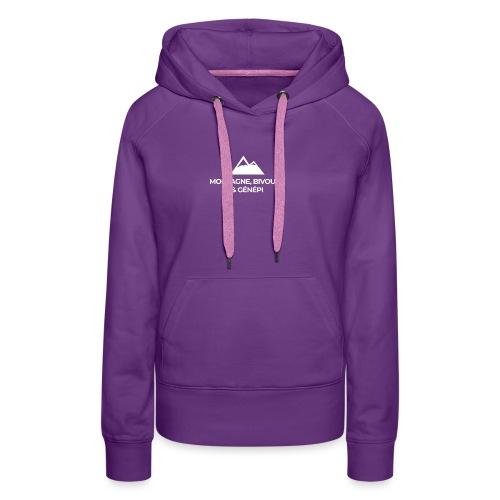 Montagne, bivouac et Génépi - Sweat-shirt à capuche Premium pour femmes