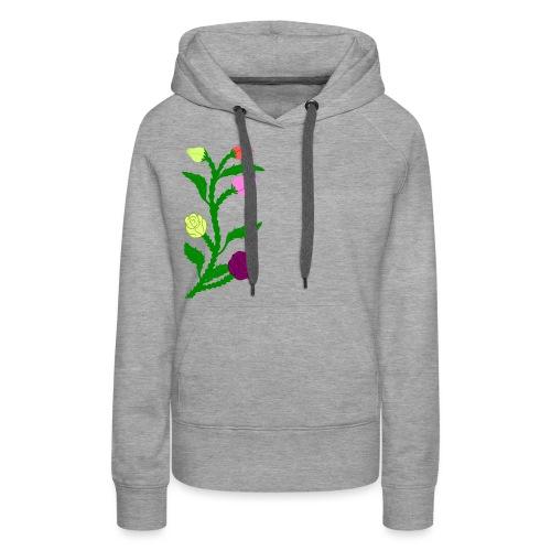 fleurs - Sweat-shirt à capuche Premium pour femmes