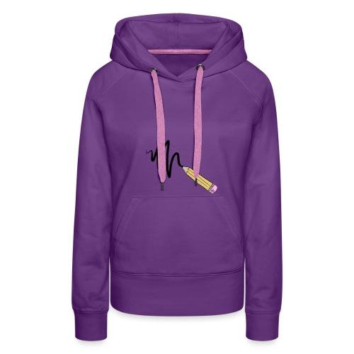 CRAYON - Sweat-shirt à capuche Premium pour femmes