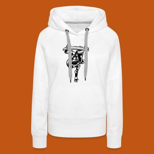 Skater / Skateboarder 03_schwarz weiß - Frauen Premium Hoodie
