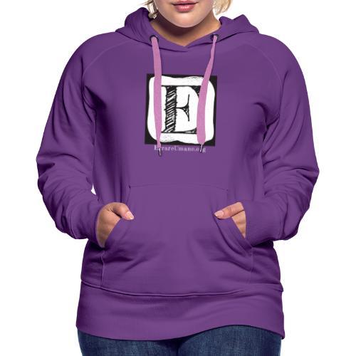 Logo ErrareUmano con scritta bianca - Felpa con cappuccio premium da donna