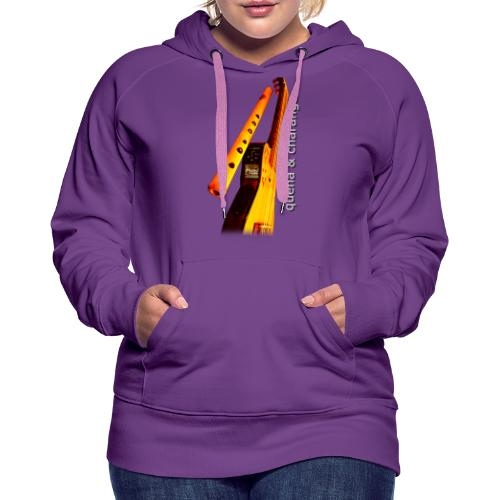 Quena y Charango II - Sudadera con capucha premium para mujer
