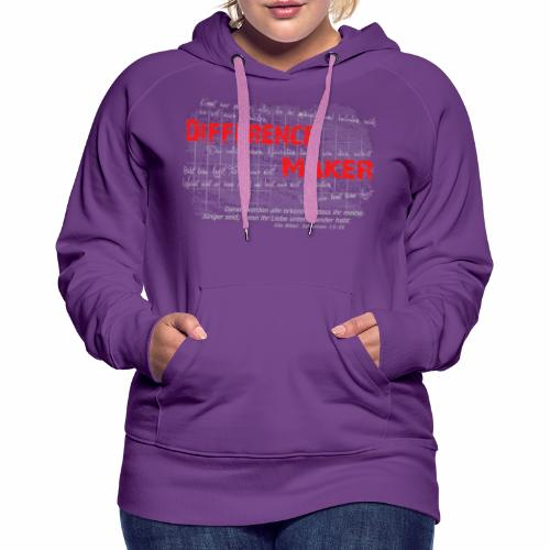 Difference Maker hell - Frauen Premium Hoodie