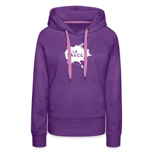 lasaucelogo blk - Sweat-shirt à capuche Premium pour femmes