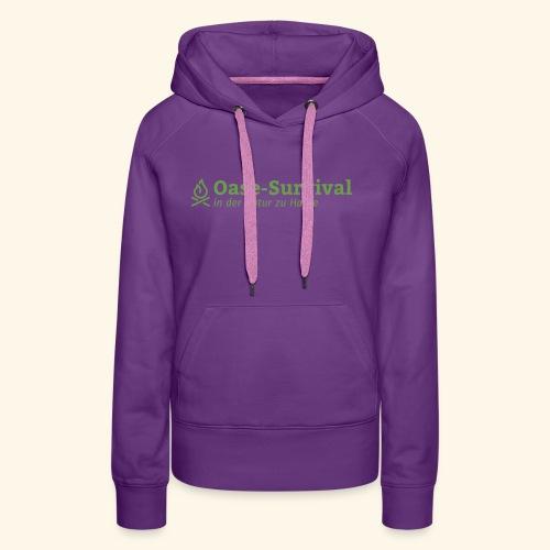 Oase-Survival Logo grün - Frauen Premium Hoodie