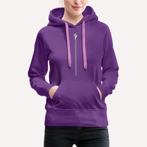 Zipper Funny Surprising T-shirt, Hoodie,Cap Print - Women's Premium Hoodie