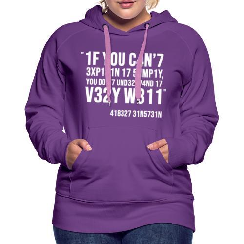1337 5p34k - Sweat-shirt à capuche Premium pour femmes