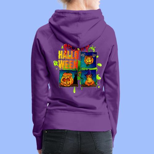 Spooky Halloween - Sweat-shirt à capuche Premium pour femmes