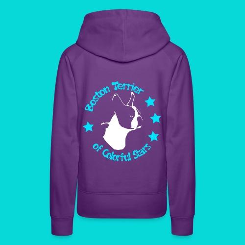 Boston Terrier of Colorful Stars Logo Türkis - Frauen Premium Hoodie