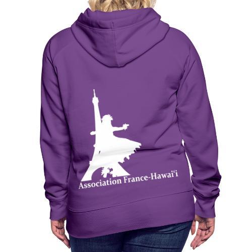 logo asso AFH 170312, blanc - Sweat-shirt à capuche Premium pour femmes