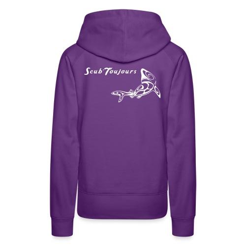 shark - Sweat-shirt à capuche Premium pour femmes