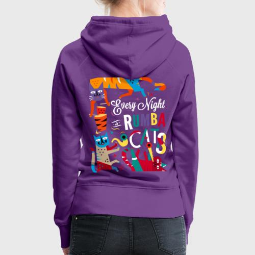 Chats Musique - Rumba salsa mambo - Sweat-shirt à capuche Premium pour femmes