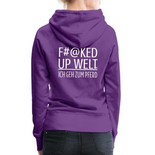 Fucked up - Pferd - Frauen Premium Hoodie