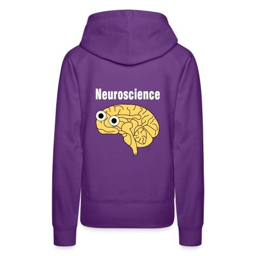 Neuroscience Brain White Text - Women's Premium Hoodie