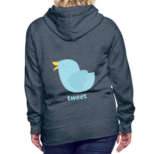 tweet - Dame Premium hættetrøje
