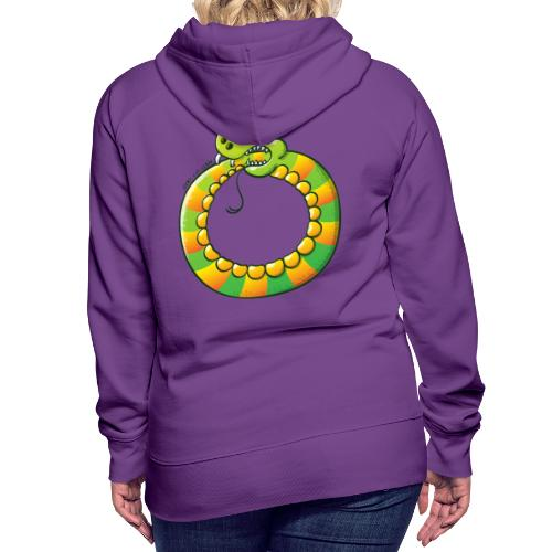 Crazy Snake Biting its own Tail - Women's Premium Hoodie