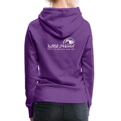 Schriftzug mit Logo - Frauen Premium Hoodie