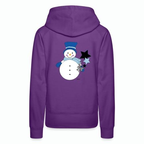 Snowtime-Blue - Frauen Premium Hoodie