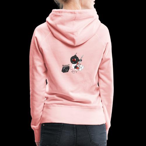 logo guitar - Sweat-shirt à capuche Premium pour femmes