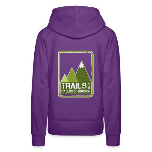 logo trails vb - Sweat-shirt à capuche Premium pour femmes